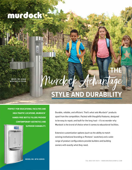 Murdock Drinking Fountains & Hand Wash Stations for Schools - New Educational Flyer