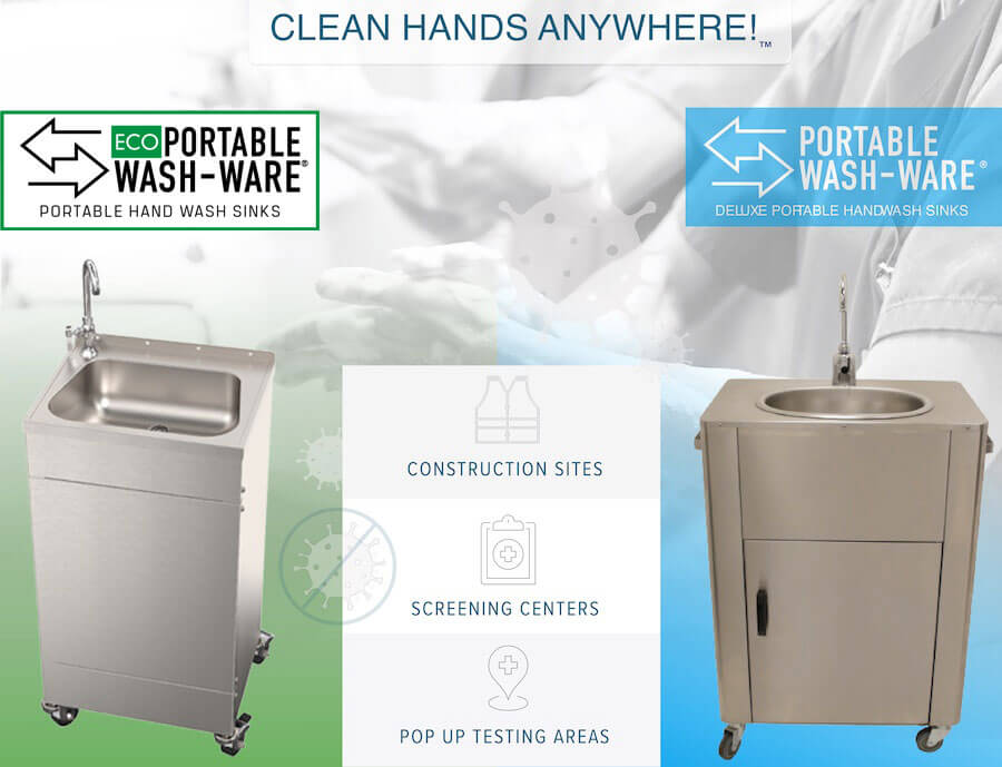 Portable Wash-Ware Hand Washing Stations for Clean Hands Anywhere